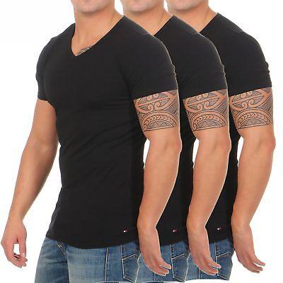 Tommy Hilfiger Premium Essentials 3er Pack T-Shirts Shirts V-Neck