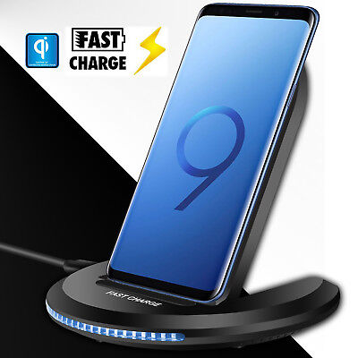 For Samsung Galaxy S9  S9  Plus Wireless Qi Fast Charger Charging Stand Dock Pad