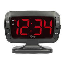 30016 Equity by La Crosse 1.8 Swivel Tilt LED Digital Alarm Clock - DENTED BOX