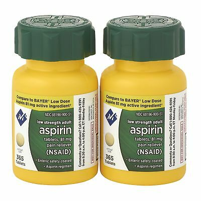GENERIC LOW DOSE ASPIRIN 81mg 730 Tablet  Heart Baby 2 365 MEMBER'S MARK tab 81  for sale  USA