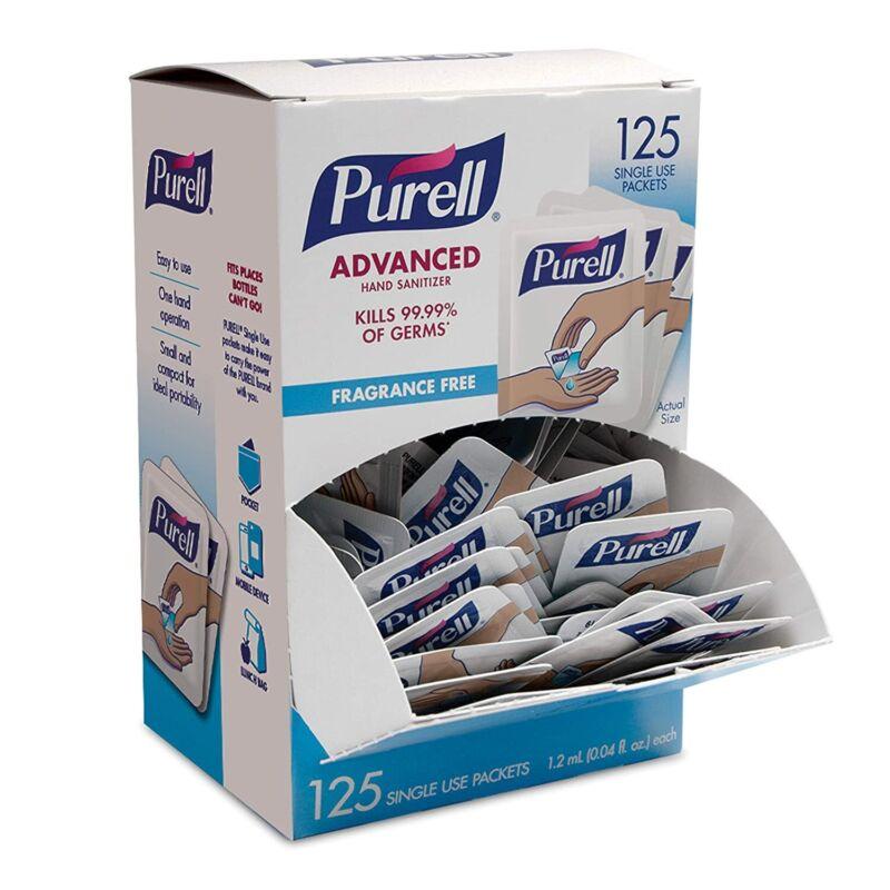 1Purell Singles 125 Packet Box