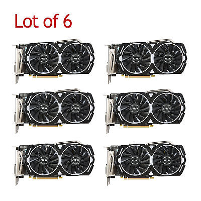 MSI Radeon 4GB Graphics Card RX 480 ARMOR 4G OC Mining Bitcoin Ethereum - 6 pcs