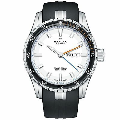 Edox 88002 3ORCA ABUN Men's Grand Ocean Silver-White Automatic Watch
