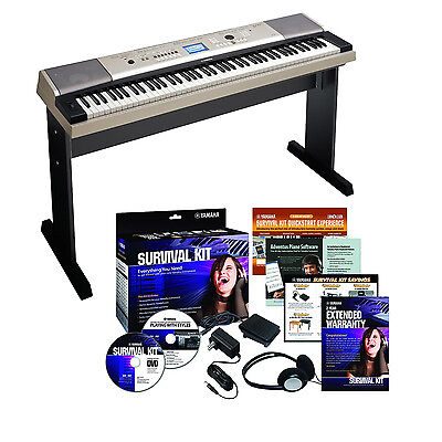 Yamaha YPG-535 88-Key Portable USB Keyboard with Survival Kit