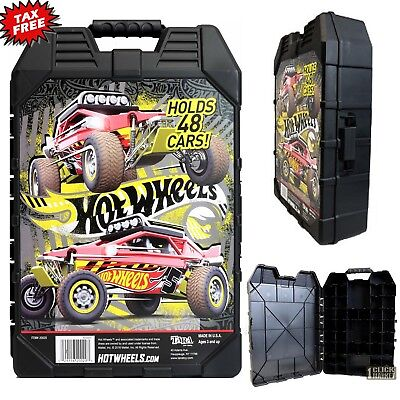 48 Hot Wheels Car Carrying Case Vehicles Matchbox DieCast Organizer Storage Box