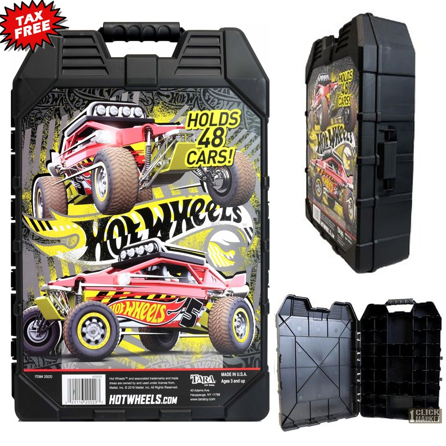 New Hot Wheels 48 Car Carry Case Colors/Styles May Vray Mode