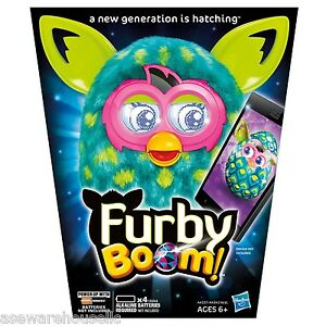 Furby-Boom-Green-Blue-Yellow-Peacock-Hasbro-BRAND-NEW-IN-PACKAGING-Free-Shipping