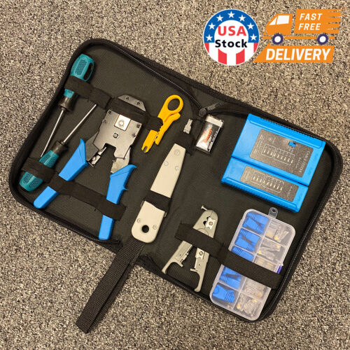 CAT5 CAT6 CAT3 RJ11 Network Tool Kit Cable Tester Crimping Wire Stripper Cutter