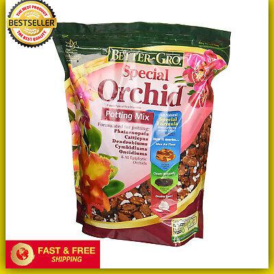 Better Gro Special Orchid Potting Mix Soil 4-Quart Fir Bark Hardwood Charcoal