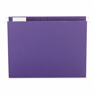 Smead Hanging File Folders 15 Tab 11 Point Stock Letter Purple 25box 64072