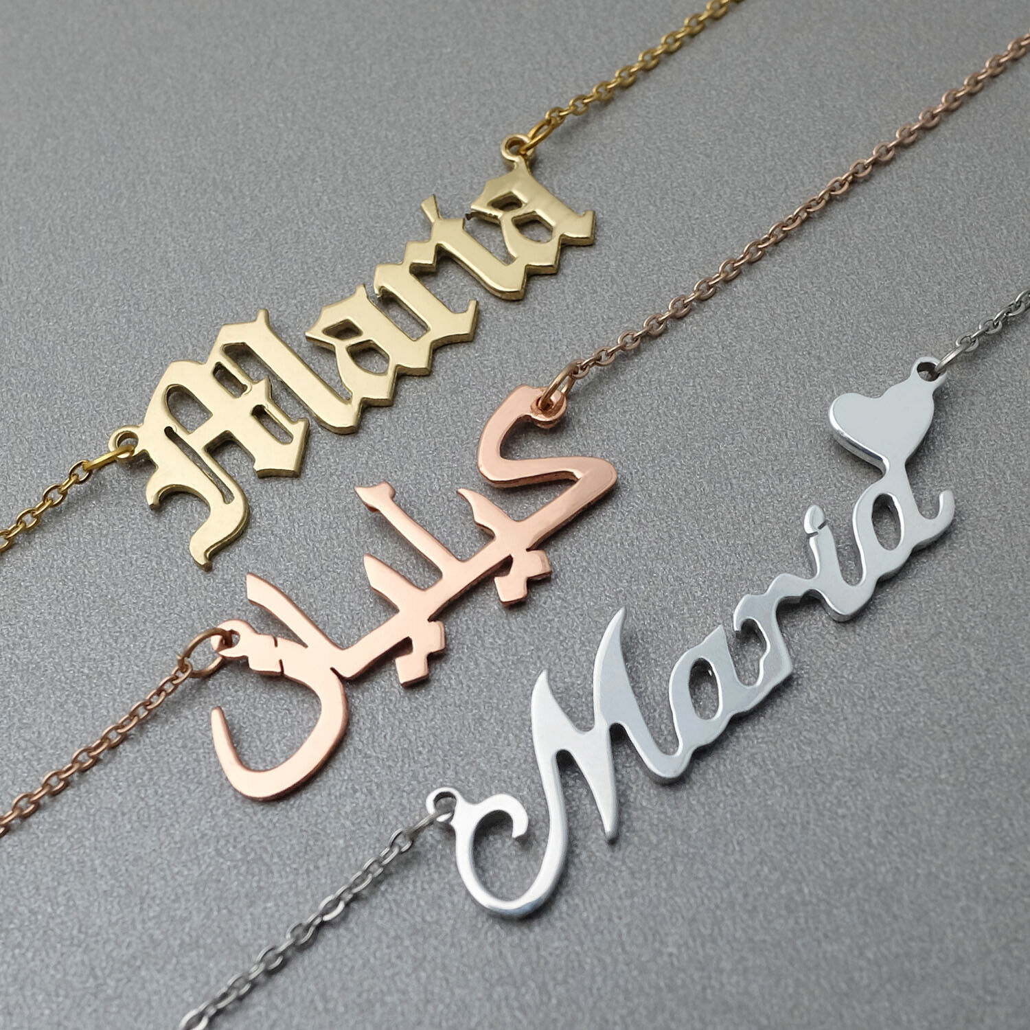 Personalized Name Necklace Custom Arabic Name Necklace Chris