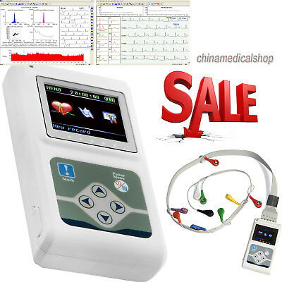 12 Channel Ecgekg Holter 24 Hours Systemrecorder Monitor Analyzer Software Us