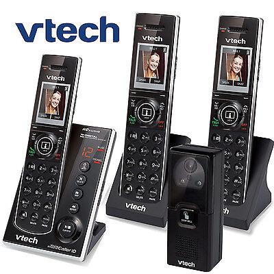 Vtech Audio Video Porch Doorbell Camera 3 Cordless Phones IS7121-2 + IS7101