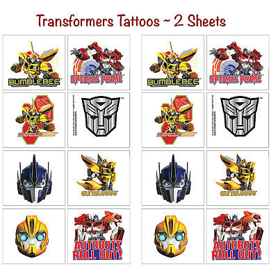 Transformers Temporary Tattoos Birthday Decorations Party Favors Supplies ~ 16ct](Transformers Party Decorations)