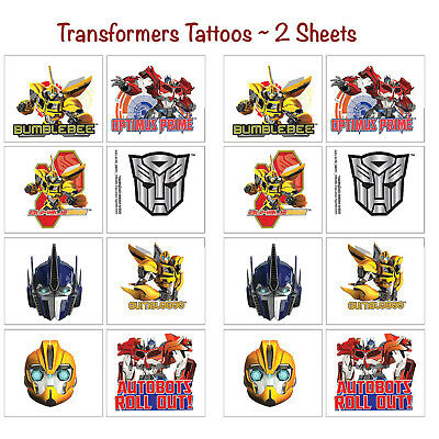 Transformers Temporary Tattoos Birthday Decorations Party Favors Supplies ~ 16ct - Transformers Birthday