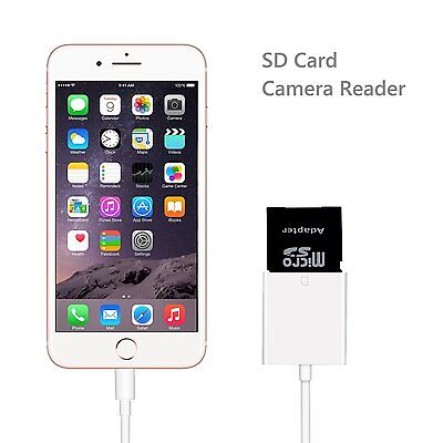 SD Card Camera Reader Photo Adapter Data Transfer For iPhone 8/7/6 Plus ipad Air