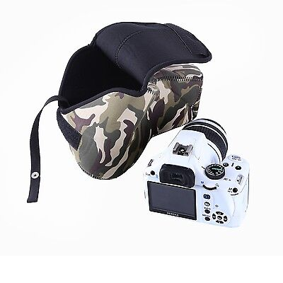 Movo CB70 Camouflage Fitted Case for Canon Nikon Sony DSLR Digital SLR Camera