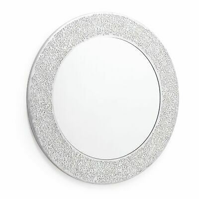 Silver Mosaic Mirror. Wall Mounted Mirror. High Shine Crackle Effect 40 x40cm