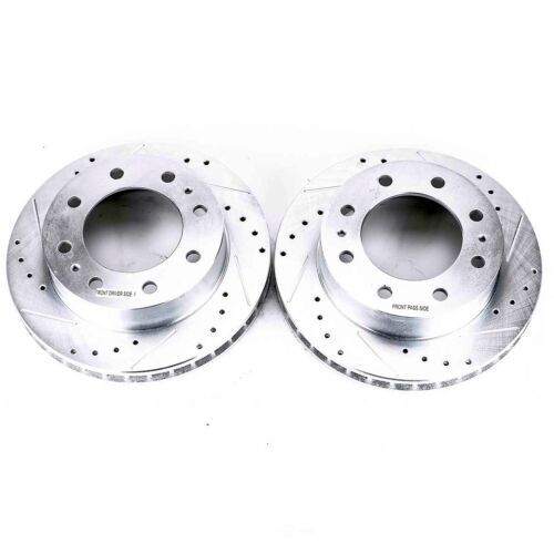 Hummer H2 2003-2009 Front+Rear Drilled Rotors /& Ceramic Pads for