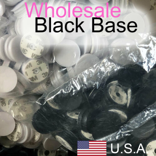 LOT 50 BLACK Grooved Base for 38mm Sublimation Circles 2nd Generation +FREE TAPE
