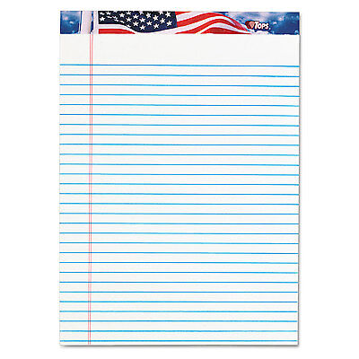Tops American Pride Writing Pad Legalwide 8 12 X 11 34 White 50 Sheets Dozen