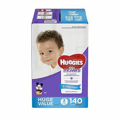 Huggies Little Movers Diapers, Size 3 (16-28 lb.), 140 Ct., HUGE PACK