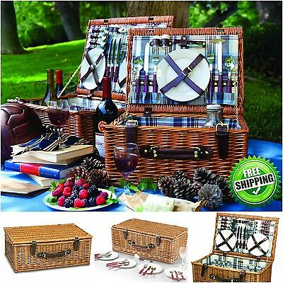 Picnic Time Picnic Basket Set Deluxe Service ...