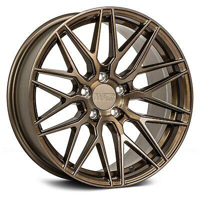 F1R F103 Wheels 18x8.5 (42, 5x112, 66.56) Bronze Rims Set of 4