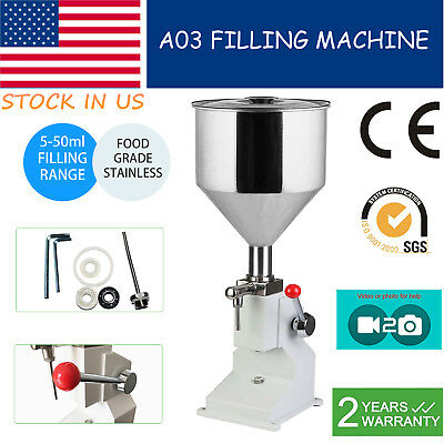 5-50ml Liquidpaste Manual Filling Machine For Lotion Cosmetic 0.17-1.7oz Filler