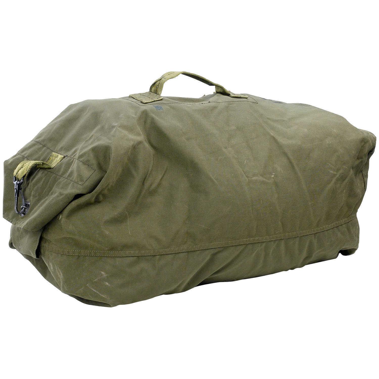 Sports Bag OD Brown Gym Bag-Black G.I Type Canvas Double Strap Duffle Bag
