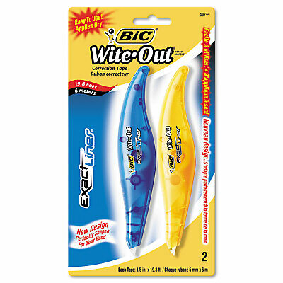 Bic Wite-out Exact Liner Correction Tape Pen 15 X 236 Blueorange 2pack
