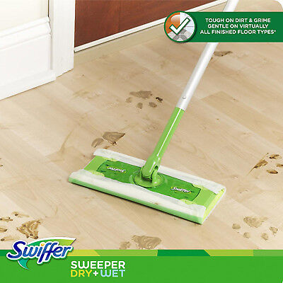 Swiffer Sweeper Cleaner Dry Wet Mop Starter Kit Cleaning Hardwood Floor Clean