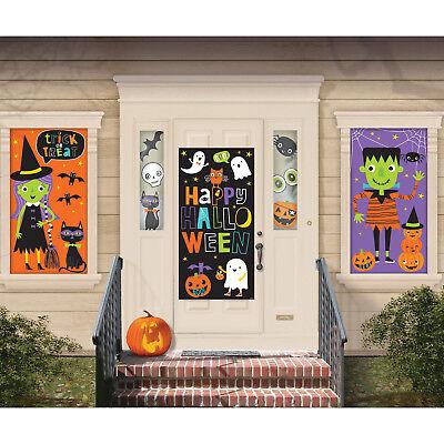 Halloween Riesig Wanddekoration Set Familie Freundlich Kinder Wandposter - Freundliche Halloween Dekoration