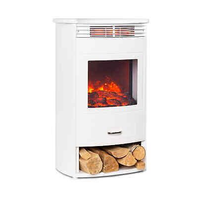 Chimenea eléctrica Estufa Calefactor Termostato Semanal 950 / 1900 W - Blanco