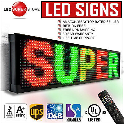 Led Super Store 3colrgyir 28x40 Programmable Scrolling Emc Display Msg Sign