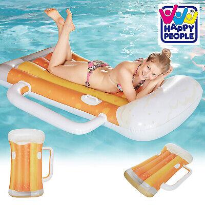 XXL Badeinsel Bierkrug Maß Floater 177x112x29 cm Luftmatratze Lounge Liege Pool