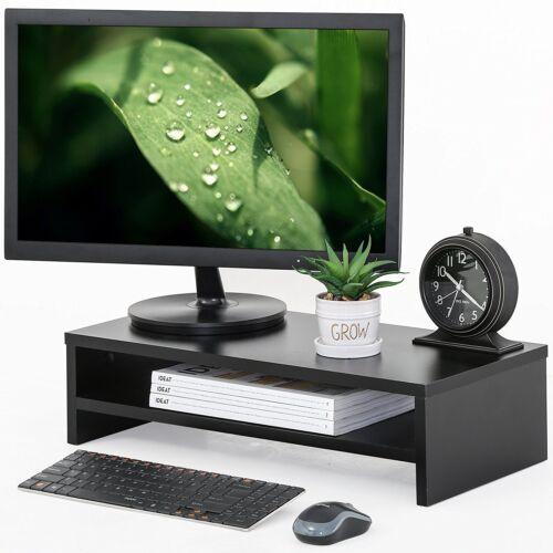 Computer Monitor Riser TV Stand Desktop Laptop Stands Wood Organzier Shelf,Wood