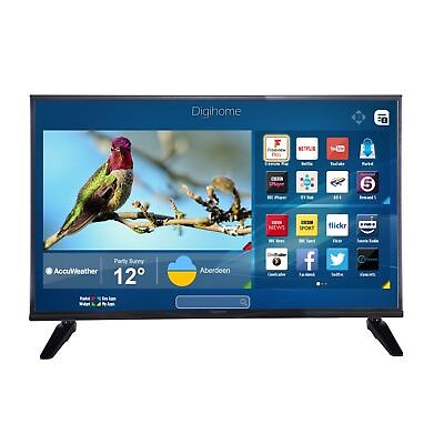 Digihome 40FHDSFVP 40 Inch Full HD Freeview WiFi Smart LED TV Black with 3x HDMI
