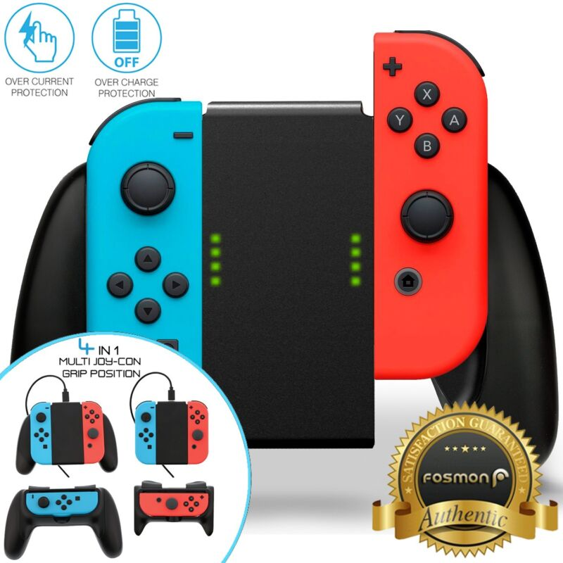 [CHARGING] Nintendo Switch Joy Con Comfort Grip Controller Charger Handle Holder