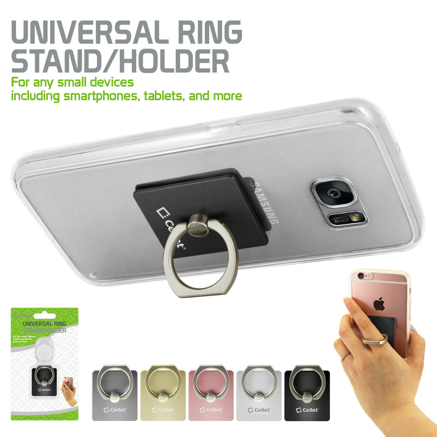 Cellet Universal Self Adhesive Ring Stand / Holder for Smart