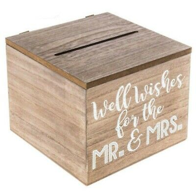 Well Wishes Box for Wedding Advice Vintage-look Country Antique Wood