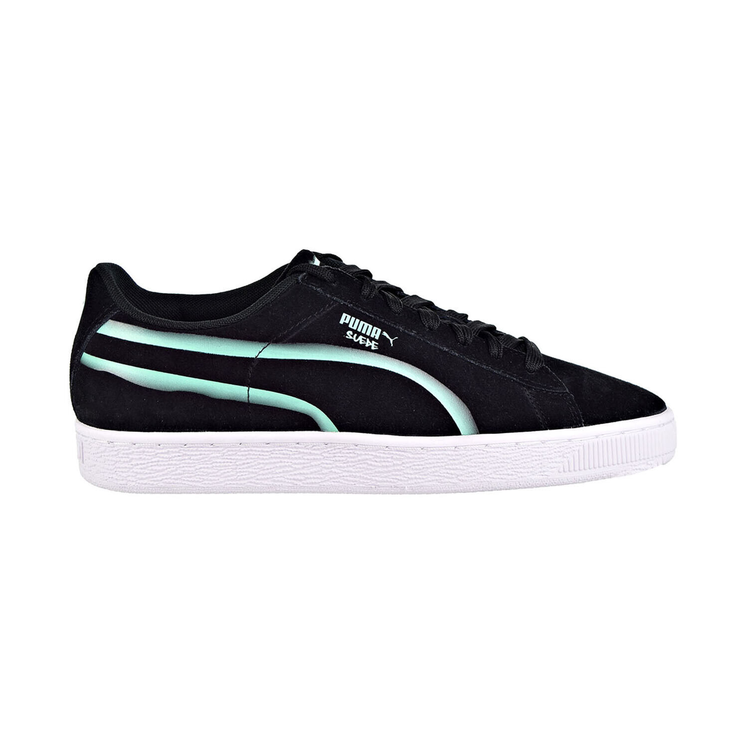Puma Suede Classic X Hollows Men's Shoes Puma Black/Biscay Green 367394-01