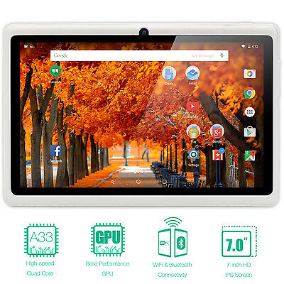 "7"" Tablet PC Quad Core Google Android 8GB HD 1024x600 Dual Camera WiFi US"