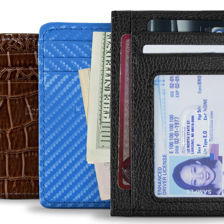 rfid blocking front pocket slim wallets