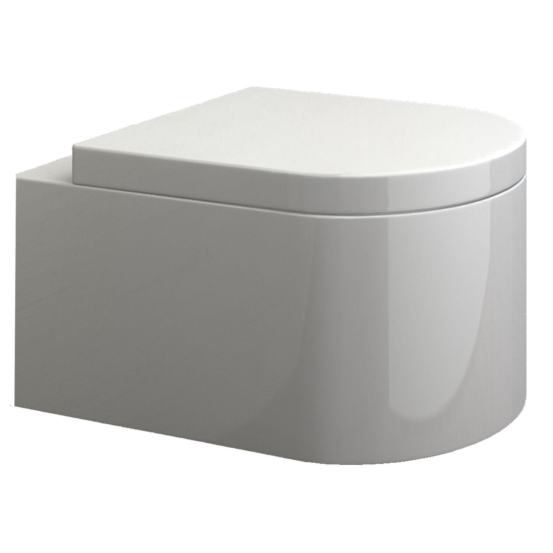 wand h nge wc mit soft close wc sitz keramik tiefsp ler toilette wandh ngend ebay. Black Bedroom Furniture Sets. Home Design Ideas