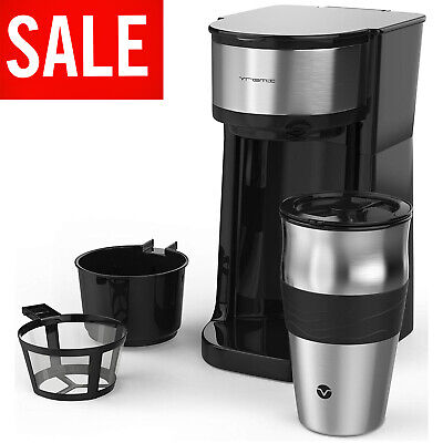 Cup Coffee Makers (Single Cup Coffee Maker One Serve Automatic Brew Machine Drip with Personal Mug )