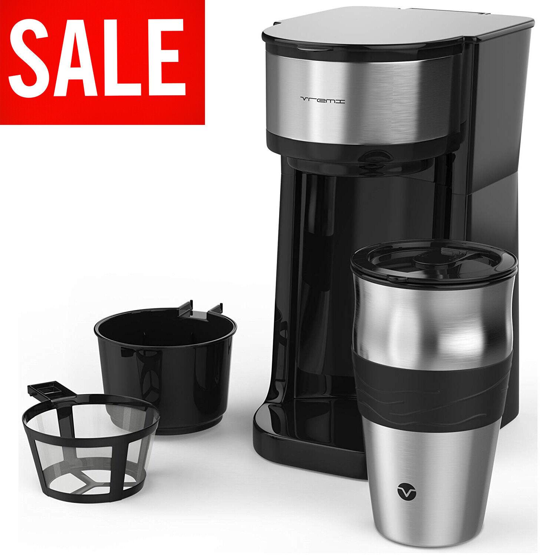 Single Cup Coffee Maker One Serve Automatic Brew Machine Dri