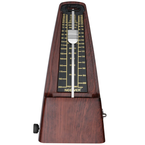 Neewer NW-707 Square Wind up Mechanical Metronome for Piano Guitar (Teak)