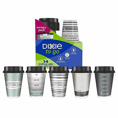 To Go Cups With Lids (Dixie To Go 43211 PerfecTouch Coffee Cups with Lids, Assorted, 12 Oz,)
