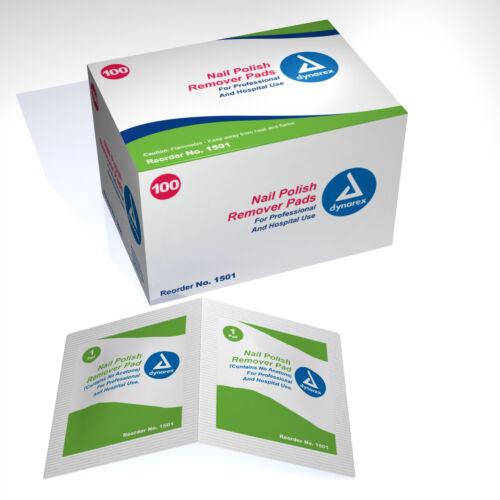 Nail Polish Remover Pads/Wipes 100 Pads per Box #1501 Free Shipping